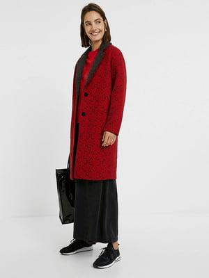 Пальто красное с орнаментом | 5540258