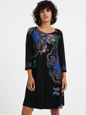Сукня чорна з орнаментом | 5540280