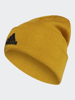 Шапка гірчичного кольору з логотипом | 5546581