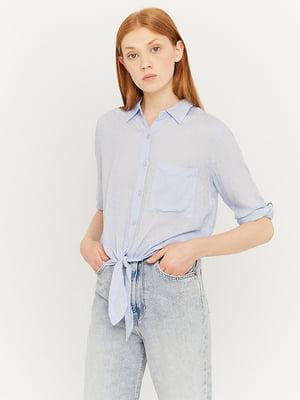Рубашка голубая с декором | 5542036