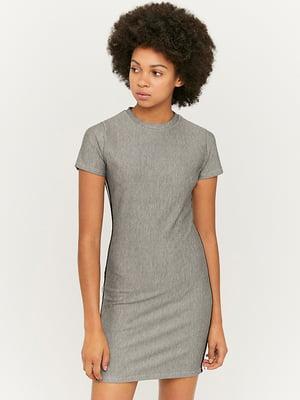 Платье серое с лампасом | 5542055