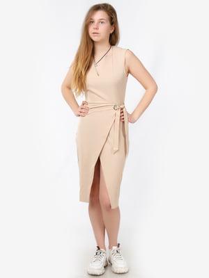 Платье бежевое   5504646