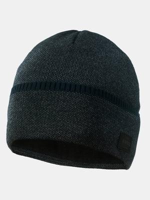 Шапка темно-серая с синим   5546887