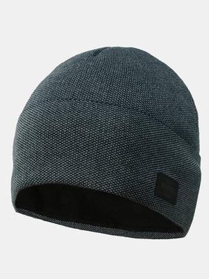Шапка темно-сіра з синім | 5546888