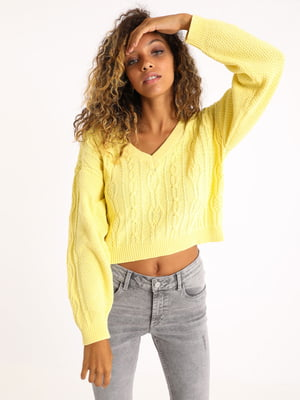 Пуловер лимонного кольору | 5541762