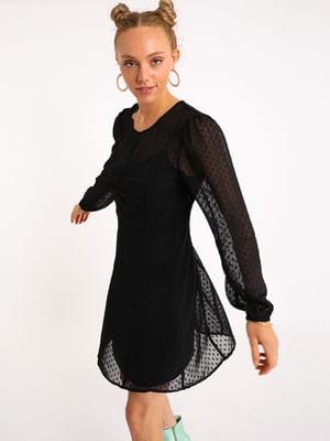 Сукня чорна в горошок | 5541792