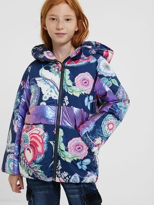 Куртка різнокольорова в принт | 5547183