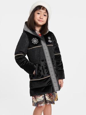 Куртка чорна з принтом | 5547185