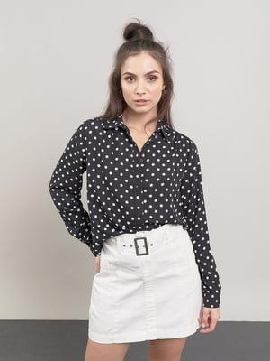 Блуза черная в горошек | 5547355