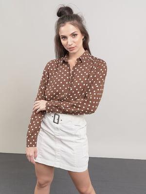 Блуза коричневая в горошек | 5547356