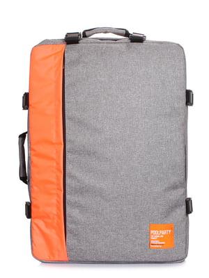 Рюкзак для ручної поклажі сірий | 5547729