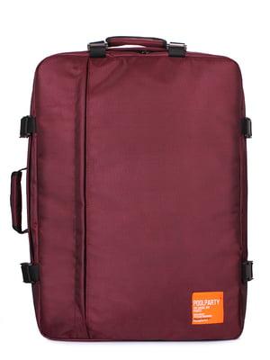 Рюкзак для ручної поклажі бордовий | 5547731