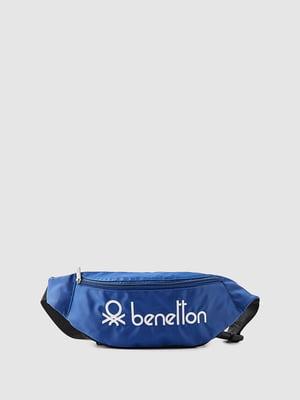 Поясная сумка синяя с принтом   5547486