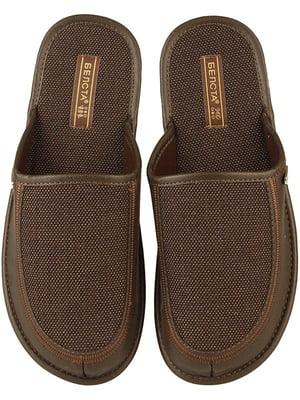 Тапочки коричневі | 4721335