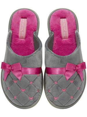 Тапочки сірі з рожевим | 5547746