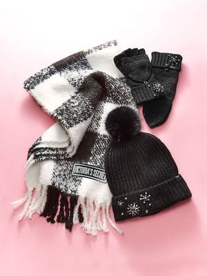 Комплект: шапка, шарф и митенки | 5547858