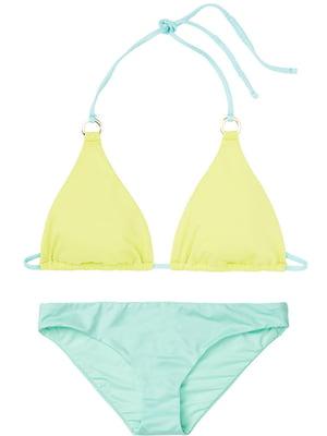 Купальник бірюзово-лимонного кольору | 5547883