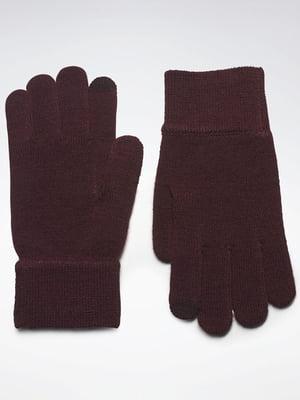 Перчатки темно-бордовые | 5538181