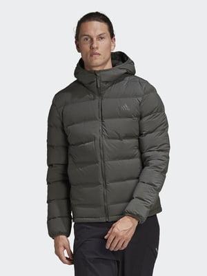 Куртка-пуховик кольору хакі   5548453