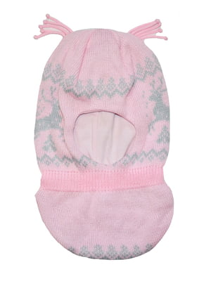 Шапка-шолом рожева з орнаментом | 5548518