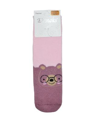 Шкарпетки рожеві з принтом | 5548528