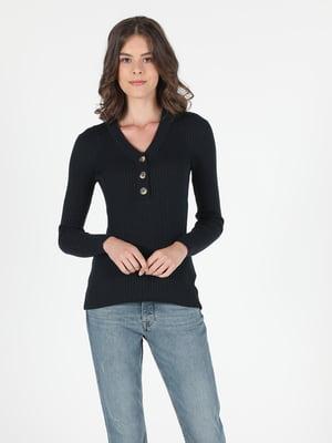 Пуловер темно-синий | 5548712