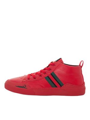 Туфли красные с полосками | 5549065