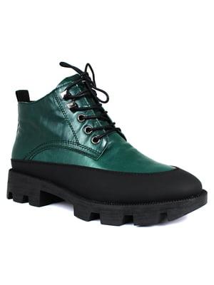 Ботинки зеленые   5550517