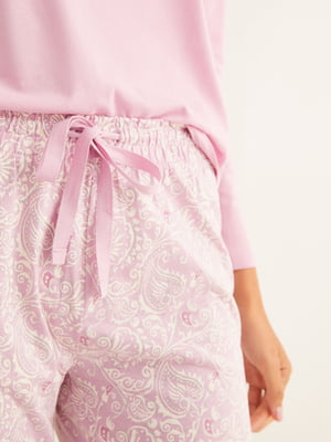 Штани рожеві у принт   5550549