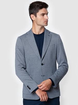 Пиджак синий в принт | 5550837