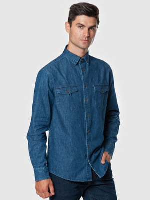 Сорочка джинсова синя | 5550841