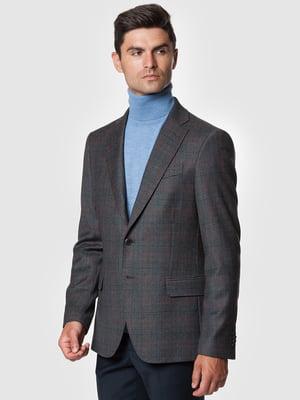 Пиджак серый в клетку | 5550897