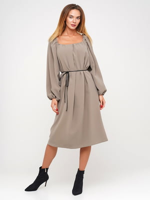 Платье серо-бежевое | 5550983