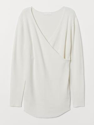 Пуловер для беременных белый | 5527479