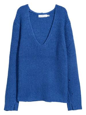Пуловер синий | 5551671
