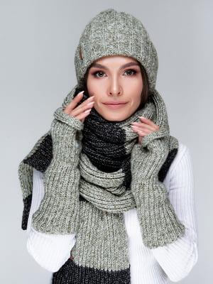 Комплект: шапка, шарф и митенки | 5549099