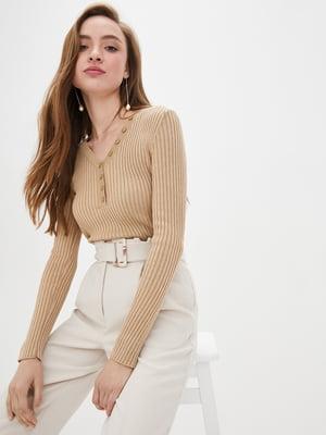 Пуловер бежевий | 5552595