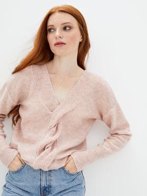 Пуловер кольору пудри | 5552604