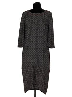 Сукня сіра в плетений візерунок | 5553037
