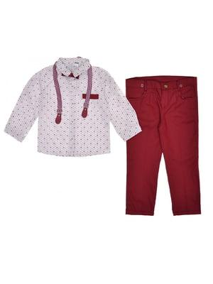 Костюм: штани, сорочка, метелик і підтяжки   5553213
