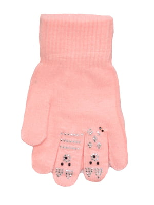 Рукавички рожеві з малюнком | 5553239