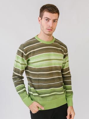Джемпер салатового цвета в полоску | 5548635