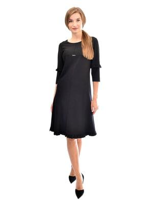 Сукня чорна в смужку | 5554125