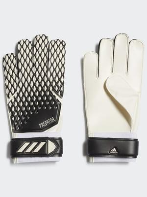 Воротарські рукавички молочно-чорного кольору | 5553588
