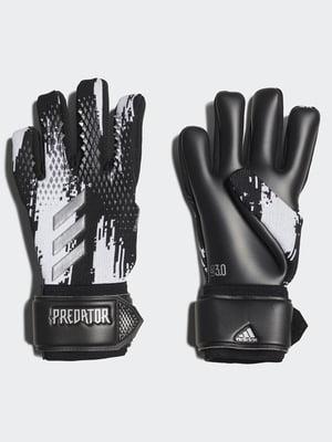 Вратарские перчатки черно-белые | 5553589
