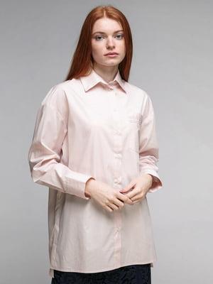 Рубашка цвета пудры | 5324722
