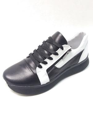 Туфлі чорно-білі | 5554956