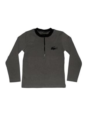 Джемпер серый с логотипом | 5555452
