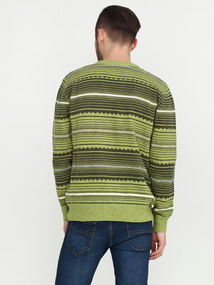 Пуловер салатового цвета в полоску | 5559466