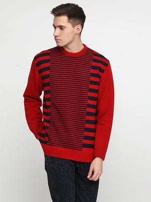 Джемпер красный в полоску   5559526